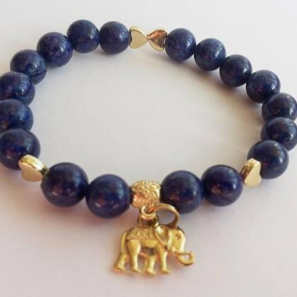 Blue Lapis Bracelet, Stress Relief,..